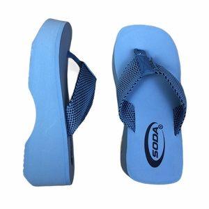 SODA Jaja Light Blue Flip Flop Sandal